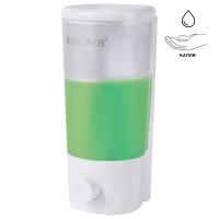 ЛАЙМА 603922 Диспенсер для жидкого мыла LAIMA, НАЛИВНОЙ, 0,38 л, белый (матовый), ABS-пластик, 603922
