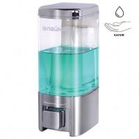 ЛАЙМА 605053 Диспенсер для жидкого мыла LAIMA, НАЛИВНОЙ, 0,48 л, хром, ABS-пластик, 605053