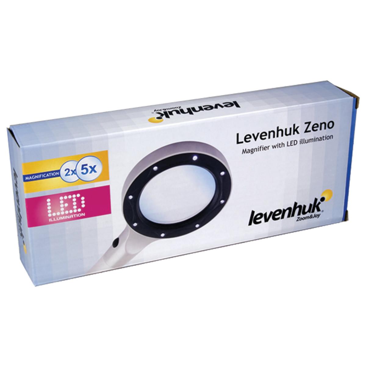 Лупа LEVENHUK Zeno 50, увеличение х2,2/х4,4, диаметр линз 88/21 мм, подсветка, пластик, 38114 (арт. 38114)