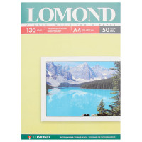 LOMOND 0102017 Фотобумага А4, 130 г/м2, 50 листов, односторонняя, глянцевая, LOMOND, 0102017