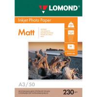 LOMOND 0102156 Фотобумага БОЛЬШОГО ФОРМАТА A3, 230 г/м2, 50 листов, односторонняя, матовая, LOMOND, 0102156