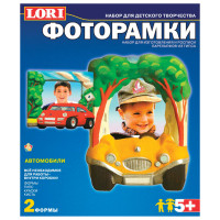 "LORI Н-057 Набор для отливки фоторамок из гипса ""Автомобили"", 2 формы, гипс, краски, кисть, LORI, Н-057"