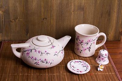 """Заготовка для декорирования """"Love2art"""" БГ-007 Чайник плоский керамика d 16 см 9 x 16 см . (арт. БГ-007)"""