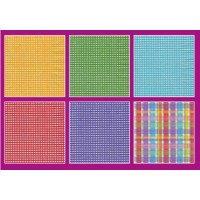 Love2Art SDD-0216-26 Салфетки бумажные «Love2Art» АССОРТИ 3-х слойные SDD 33х33 12 шт. №0216-26 Клетка