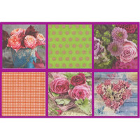 Love2Art SDD-0517-03 Салфетки бумажные «Love2Art» АССОРТИ 3-х слойные SDD 33х33 12 шт. №0517-03 Розовый букет