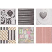 Love2Art SDD-1216-11 Салфетки бумажные «Love2Art» АССОРТИ 3-х слойные SDD 33х33 12 шт. №1216-11 Home