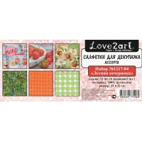 Love2Art SDD-1217-04 Салфетки бумажные «Love2Art» АССОРТИ 3-х слойные SDD 33х33 12 шт. №1217-04 Летняя вечеринка