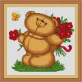 Luca-S B171 Медвежонок с цветами