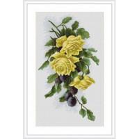Luca-S B2230 Желтые розы со сливами