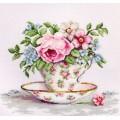 Luca-S B2321 Цветы в чайной чашке
