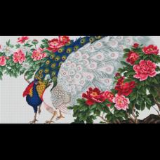 Набор для вышивания B462 Павлины в цветах