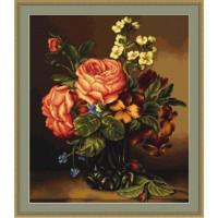 Luca-S B491 Ваза с розами и цветами