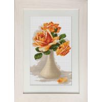Luca-S B505 Оранжевые розы в вазе