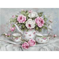 Luca-S BA2317 Чайный сервиз и розы