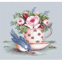 Luca-S BA2324 Птичка и чашка чая