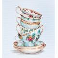 Luca-S BA2325 Бирюзовые чайные чашки