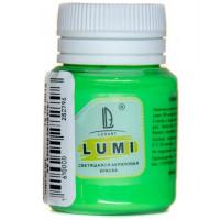 Luxart  L7V20 Акриловая краска LuxLumi Зеленый люминисцентный (светящийся) 20 мл