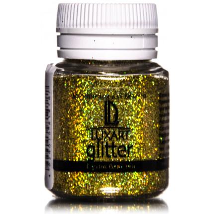 Декоративные Блестки LuxGlitter Голографическое золото 20 мл