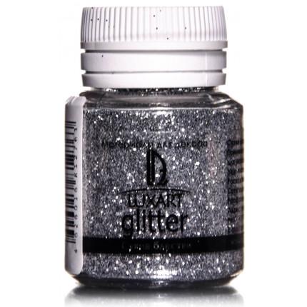 Декоративные Блестки LuxGlitter Серебро 20 мл