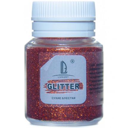 Декоративные Блестки Luxart Glitter Оранжевый 20 мл