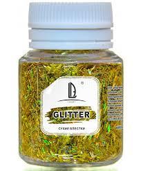 Декоративные Блестки LuxGlitter Голографическое золото палочки (0,2*1,5 мм) 20 мл