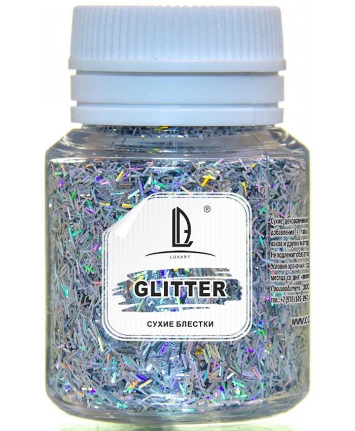 Декоративные Блестки LuxGlitter Золото палочки (0,2*1,5 мм) 20 мл