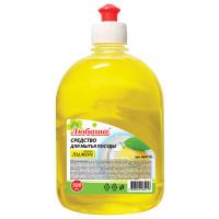 "ЛЮБАША 604778 Средство для мытья посуды 500 мл, ЛЮБАША ""Лимон"", пуш-пул, 604778"