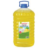 "ЛЮБАША 604781 Средство для мытья посуды 5 л, ЛЮБАША ""Лимон"", ПЭТ, 604781"
