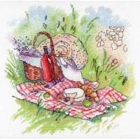 """М.П.Студия А-006_МПС Набор для вышивания """"Акварель"""" А-006  Прованский пикник, 20 х 20 см"""
