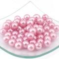 Magic Hobby БУС.MH.КР.ПР.12.143 Бусины «Magic 4 Hobby» круглые перламутр 12мм, цв.143 св. розовый, уп.50г.(64шт.)
