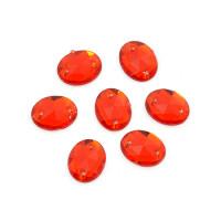 Magic Hobby MG.D.08X10.01.01 Стразы пришивные акриловые (овал), красные