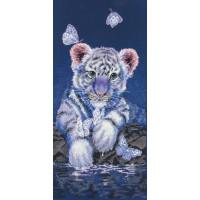 Maia 01165 Набор для вышивания MAIA 5678000-01165 Белый тигренок (White Baby Tiger)