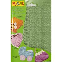 """Makin`s  """"Makin`s"""" Комплект текстурных листов C - соты, волны, петля, кружево 38003"""