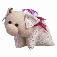 """Малиновый слон ТК-035 Набор для шитья мягкой игрушки """"Поросёнок Бантик"""""""