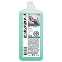 MANUFACTOR N30816 Антисептик-гель для рук спиртосодержащий (спирт 66%-70%) 1 л MANUFACTOR, дезинфицирующий, флип-топ, N30816