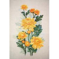 Марья Искусница 04.004.06 Жёлтые хризантемы