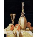 Марья Искусница 06.001.04 Натюрморт с персиками и вином, М.Рамзей