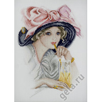 Марья Искусница 06.004.01 Девушка с розовым бантом