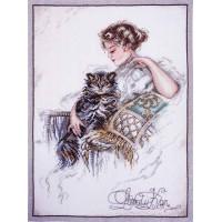 Марья Искусница 06.004.09 Дама и кот