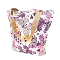 Матренин Посад 502638 9198 Набор текстильная сумка из холста Матренин Посад 'Влюбленные бабочки' 30х40х7см