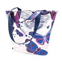 Матренин Посад 502639 9199 Набор текстильная сумка из холста Матренин Посад 'Порхающие цветы' 30х40х7см