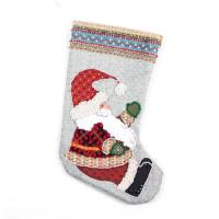 Матренин Посад 904229 8426 Набор для шитья и вышивания носочек Матренин посад 'Дедушка Мороз' 19*30см