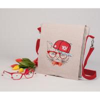Матренин Посад 904235 8538 Набор для шитья и вышивания текстильная сумка-планшет Матренин посад 'Хип-хоп кот' 28*25см