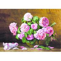 "Матренин Посад БА №06 Набор для вышивания МП БА №06 0031/Б ""Розовый аромат"" 38 х 27 см"