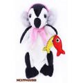 """Мехомания ММ-021-И Готовая игрушка из меха """"Пингвин-рыболов"""""""
