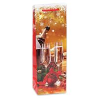 """MILAND ПКП-2853 Пакет подарочный 12х36х8,5 см (Bottle), """"Яркий праздник"""", ламинированный, ПКП-2853"""