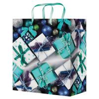"""MILAND ПКП-8866 Пакет подарочный 18x23x8 см, """"Подарки"""", ламинированный, ПКП-8866"""