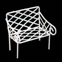 7712320 Металлическая скамейка белая
