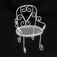 Прочие 7712315 Металлическое мини-кресло, цвет: белый