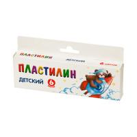 """Мишка KNYB-06 """"Мишка"""" Пластилин KNYB-06 ( в картонной упаковке с европодвесом ) 6 цв. ассорти"""